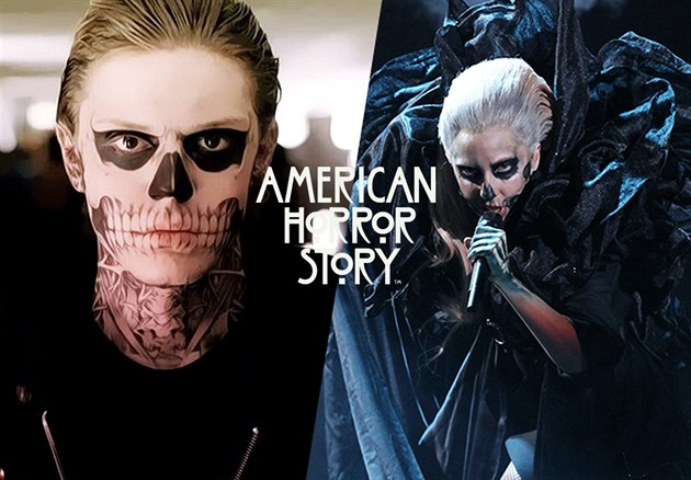 Evan Peters / Lady Gaga v American Horror Story