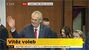 Miloš Zeman vyhrál volby.