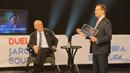 Miloš Zeman v debatě s moderátorem Jaromírem Soukupem