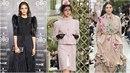 Dcera exministra Jana Tvrdíková na přehlídce pro Chanel a Valentino.