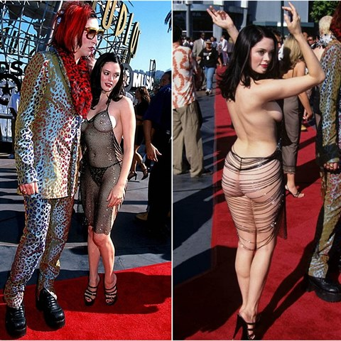 Rose McGowan a Marilyn Manson.