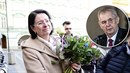 Květiny zahalená Němcová řekla, co si myslí o Zemanovi.