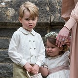Děti Kate Middleton a prince WIlliama - George a Charlotte.