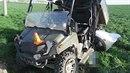 Při střetu čtyřkolky a auta značky Opel u Doloplaz byl zraněn řidič čtyřkolky.