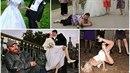 Tohle jsou nejpodivnější fotky z ruský svateb.
