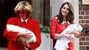 Tato podobnost nebude náhodná. Kate Middleton už podruhé obléká šaty podobné...