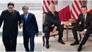 Kim Čong-un a Mun Če-in působí jako staří přátelé. Od Trumpa s Macronem jsou k...