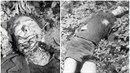 Těla brutálně umučených a popravených povstalců v Jelením příkopu.