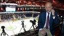 Trenér Marek Sýkora je při mistrovství světa expertem ve studiu České televize....