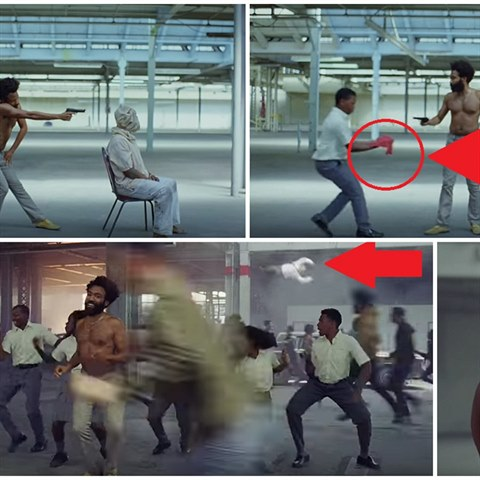 Videoklip This Is America od umělce Childishe Gambina.