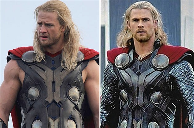 Chris Hemsworth (Thor) a jeho dublér Bobby Holland