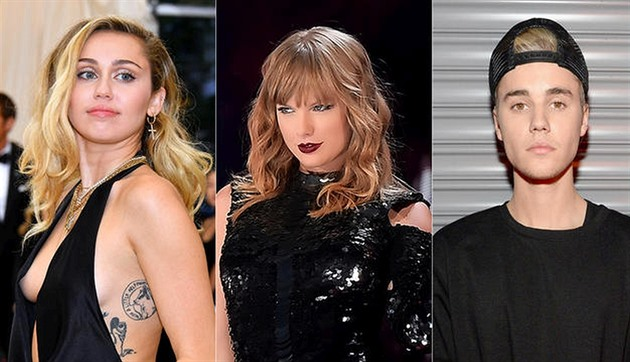 Miley Cyrus / Taylor Swift / Justin Bieber