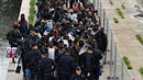Při vyklízení tábora kolem kanálu Saint-Denis nikdo nekladl odpor.