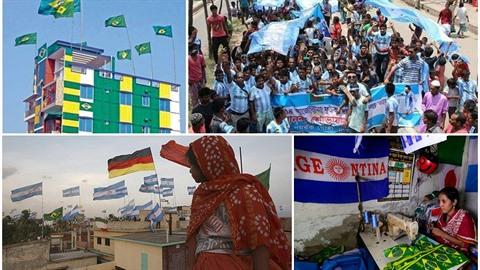 V Bangladéši propuklo fotbalové šílenství. Fanoušci Argentiny a Brazílie se tam...