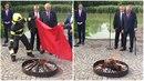 Miloš Zeman slavnostně spálil červené trenýrky.