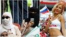 Saúdskoarabské fanynky vypadají, jako by patřily do tvrdého jádra. To Rusky se...