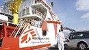 Jedna z lodí, na nichž Lékaři bez hranic pomáhají migrantům dostat se do Evropy.