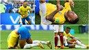 Brazilec Neymar je největším simulantem mistrovství. Posmívají se mu i...