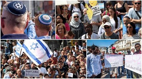 Stovky lidí v Bonnu pobouřilo napadení židovského profesora. Toho nejprve zbil...
