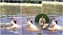 Zdeněk Macura se rozhodl, že se téměř nahý vykoupe v bazénu. To by ještě šlo....