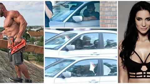 Svalovec Petr Plaček si vyzvedl vdanou Andreu u ní doma a společně odjeli...