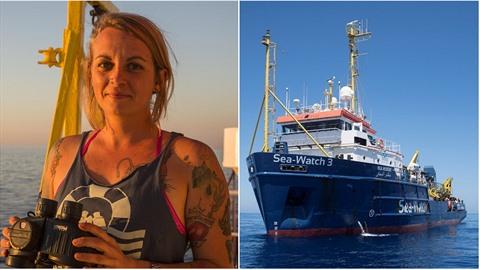 Mladá Němka je kapitánkou záchranářské lodi.