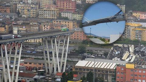 Most Morandi byl ve špatném stavu prý již od začátku výstavby.