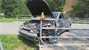 Senior nezvládl řízení a na mostě ve Stražisku narazil do zábradlí