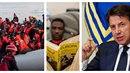 """Italský Giuseppe Conte názorně předvádí, jak moc se """"smrsknul"""" počet migrantů..."""