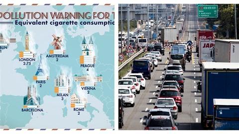 Praha patří mezi města s největším znečištěním. Čtyři dny v Praze znamenají...