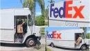 Tenhle doručovatel Fedexu se s tím opravdu nepáral.