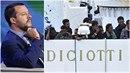 Migranti z Diciotti drží hladovku. Salvini vzkázal, že je mu to jedno.