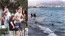 Čech na Krétě natočil video, na němž má být zachycena inscenace topících se...