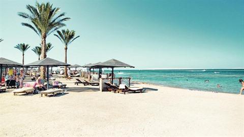 Pláž v Hurgadě.