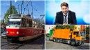 Kandidát na primátora chce v noci z tramvají udělat popeláře