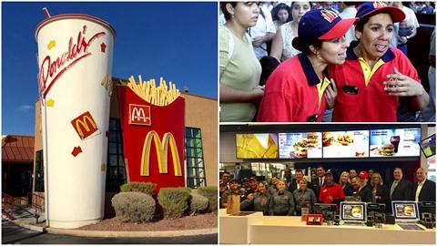 Zaměstnankyně řetězce McDonalds protestují proti sexuálnímu obtěžování na...