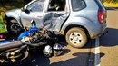 Ve Staré Vsi nad Ondřejnicí byla čtyřicetiletá žena na motocyklu po střetu...