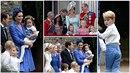 Prince George a princezna Charlotte svou přítomností opět zastínili novomanžele.