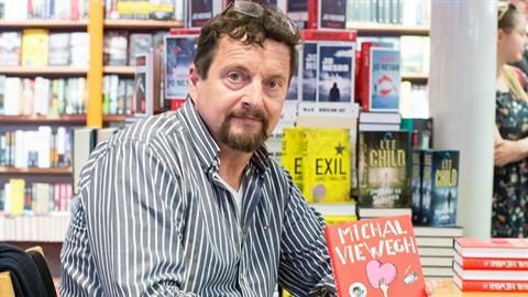 Michal Viewegh při prezentaci knihy Muž a žena.
