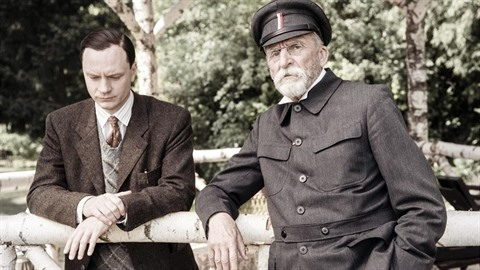 Jan Budař a Martin Huba coby češští velikáni probírají ve filmu Hovory s TGM i...