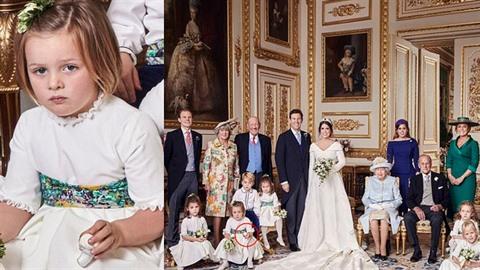 Oficiální snímek  královské svatby princezny Eugenie a Jacka Brooksbanka....