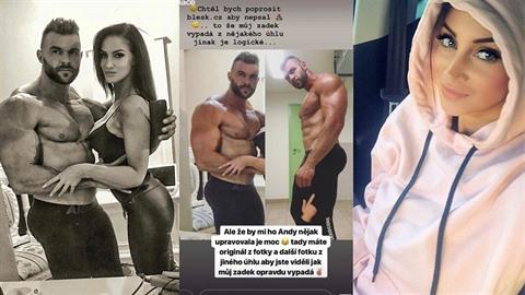 Andrea Pomeje sdílí fotky se svým svalovcem.