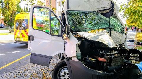 Na Opavsku narazila dodávka do stromu, řidič nehodu nepřežil.
