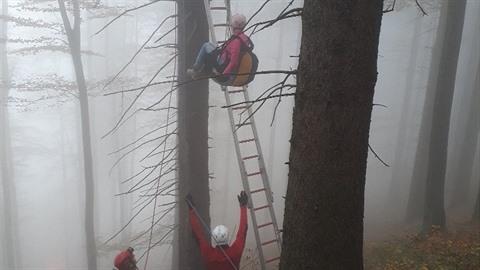 Hasiči a členové Horské služby zachraňovaly paraglidistu z koruny vysokého...