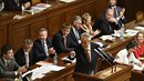 Zeman vystoupil před poslanci před schvalováním rozpočtu na rok 2019