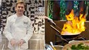Tomáš Měcháček málem mohl měnit celou kuchyň. Začal hořet olej v pánvi a chtěl...