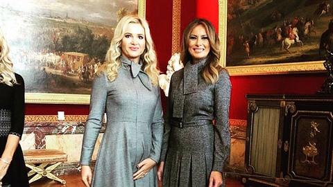 Monika Babišová a Melania Trump.