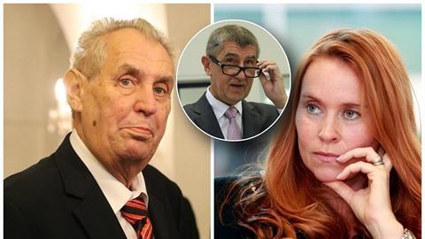 Miloš Zeman pálil ostrými do investigativní novinářky Slonkové.