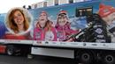 Gabriela Koukalová stále figuruje na kamionu svých bývalých kolegů.