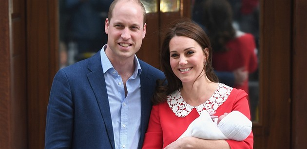 Kate Middleton a princ William mají syna Luise